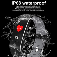 Bluetooth Smart Bracelet IP68 Waterproof Support Heart Rate blood Oxygen Blood Pressure Monitoring SMS Call Reminder Smart Band