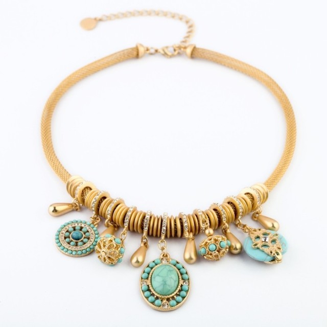 Pendant Necklace New Special Offer 2014 Women Fashion Accessories Golden Barr Necklace &pendant Chain Short Design Womens
