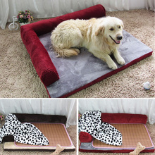 COXEER Set with 4 pcs Detachable Cat Dog Foam Bed Sofa Fits for Within 30kg Pets(Coffee, L)