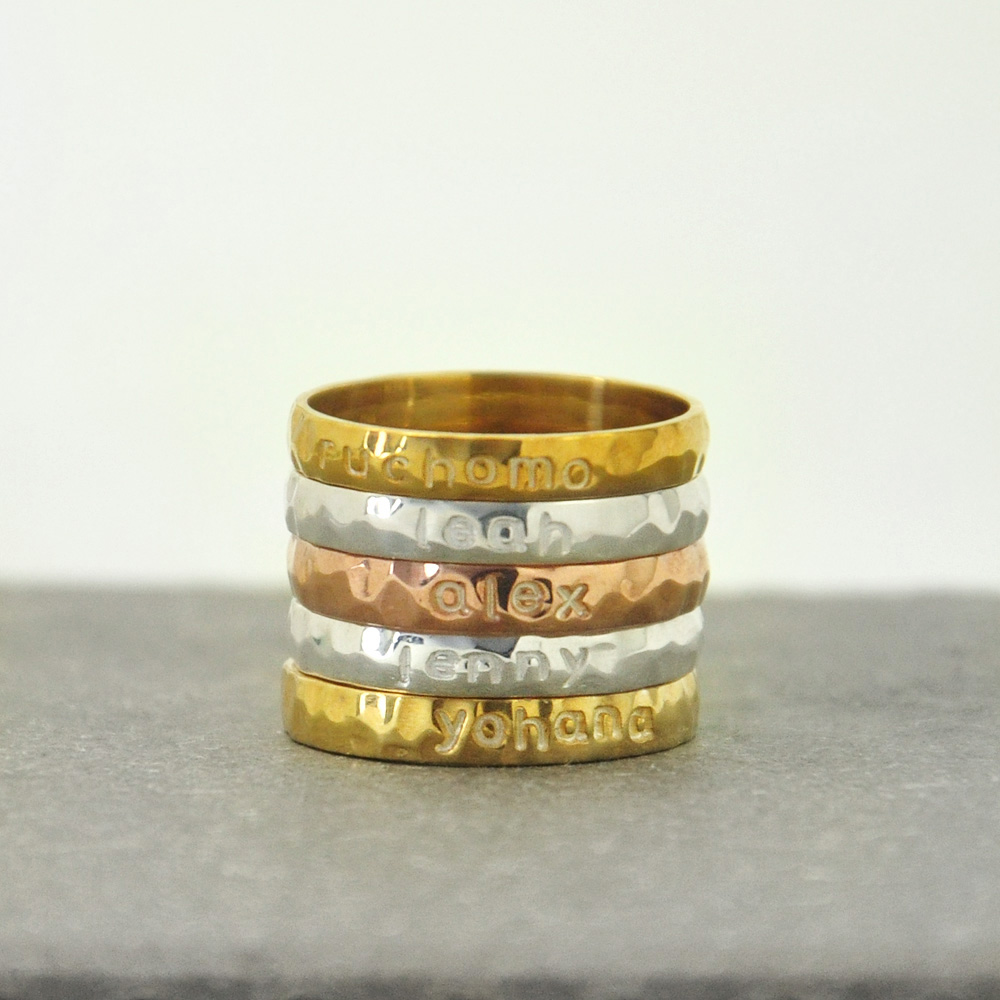 stacking rings personalized name ring personalized. Black Bedroom Furniture Sets. Home Design Ideas
