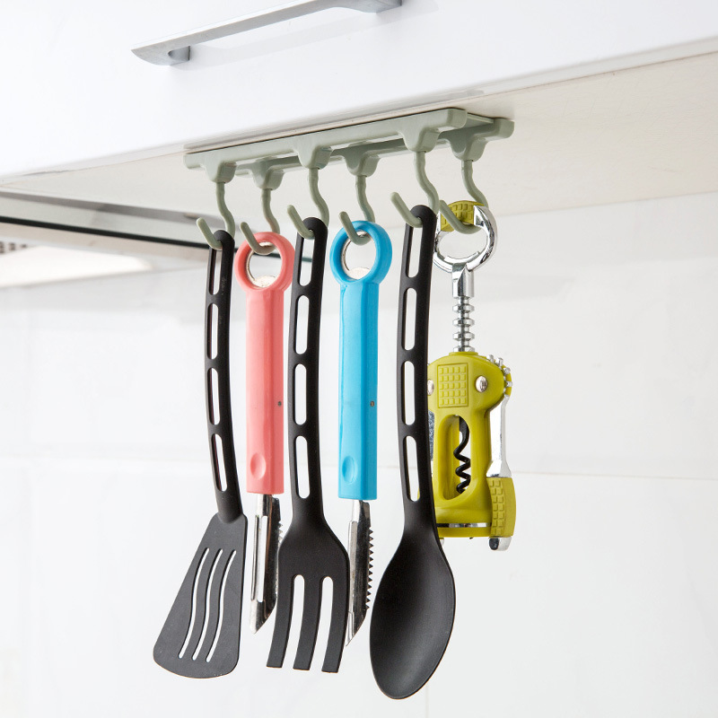 Kitchen Cupboard Storage Rack Organizer Closet Clothes Shelf Cupboard Shelf Hanging Hook Hanger Wardrobe Holder Houseware