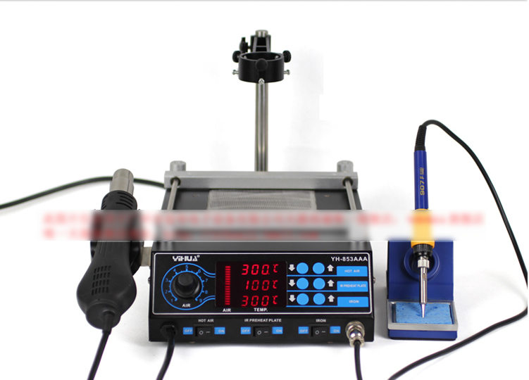 YIHUA 1000A Infrared BGA rework machine desoldering station soldering machine ph015 puhui t 835 110v 220v bga irda welder infrared bga soldering and desoldering smd rework station t835