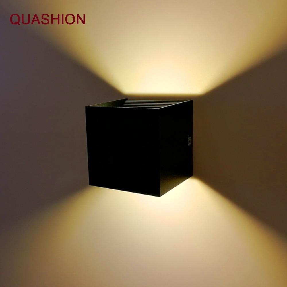 Modern LED Wall Lamp 12W COB Aluminum Up Down Indoor Wall Mounted Cube Living Dining Room Corridor Wall Light Decor AC90-260V