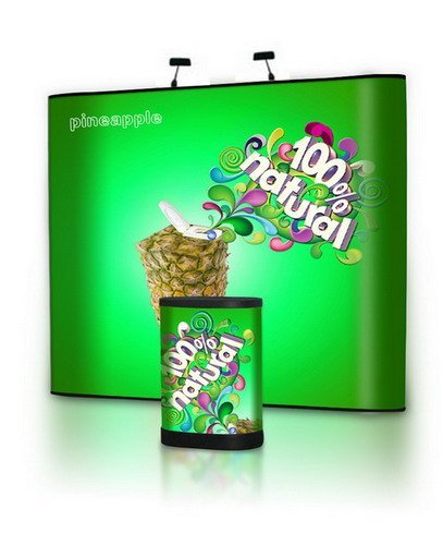 3x4 Aluminum Pop Up Stand with PVC Banner