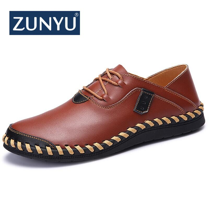 ZUNYU New Spring Summer Breathable Moccasins Men Loafers Shoes Male Flats Genuine Leather Casual Boat Walking Driver Footwear northmarch classic spring summer moccasins men loafers shoes male flats genuine leather casual driving shoes mens footwear