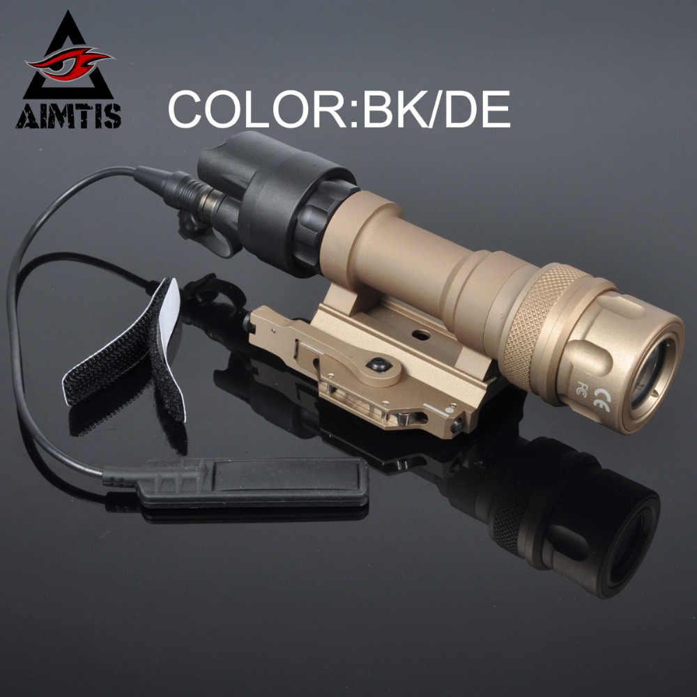 AIMTIS M952, luz infrarroja táctica, Picatinny QD, montaje LED, arma, luz de caza, linterna, exploración, constante, momentánea, salida blanca
