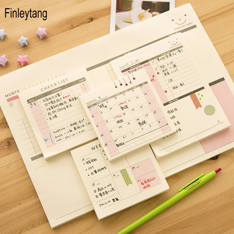 Weekly Monthly Plan Work Memo Check List Daily Memo Pad Mini Pocket Planner Stickers Creative Stationery Office School Supplies