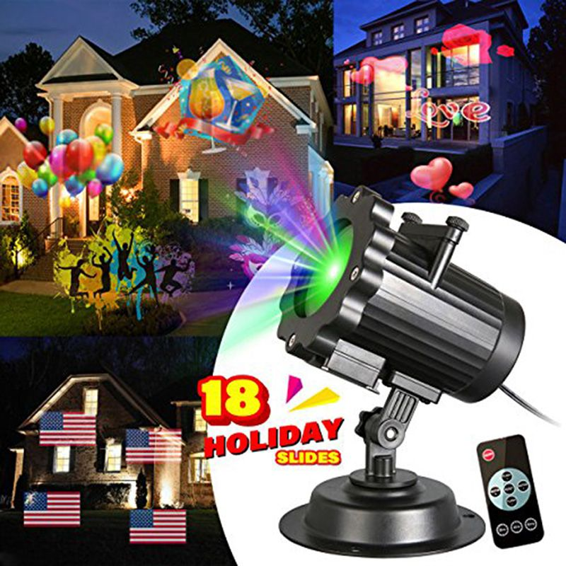 2018 new Projector Light 18 Patterns festive Valentines Day Birthday Party Easter/Thanksgiving decoration