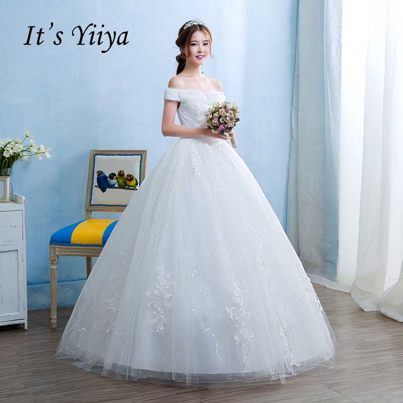 Cheap Wedding Dresses 2017 Lace Wedding Gowns Princess: Aliexpress.com : Buy Free Shipping Real Photo 2017 New