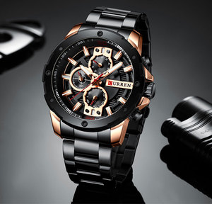 Image 4 - Relogio Masculino גברים של שעונים CURREN למעלה יוקרה מותג לצפות Mens קוורץ נירוסטה שעון אופנה הכרונוגרף שעון גבר