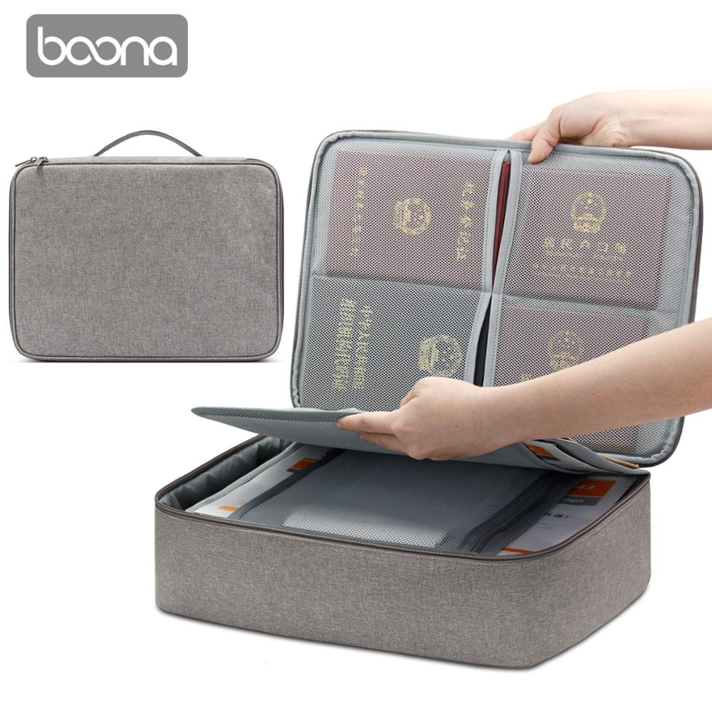 Image 4 - Boona Oxford Waterproof Document Bag Organizer Papers Storage Pouch Credential Bag Diploma Storage File Pocket with Separator-in File Folder from Office & School Supplies