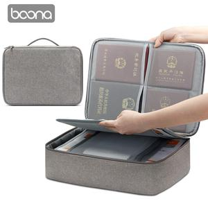 Image 4 - Boona אוקספורד עמיד למים מסמך תיק ארגונית ניירות אחסון פאוץ תיק אישורים תעודת אחסון קובץ כיס עם מפריד