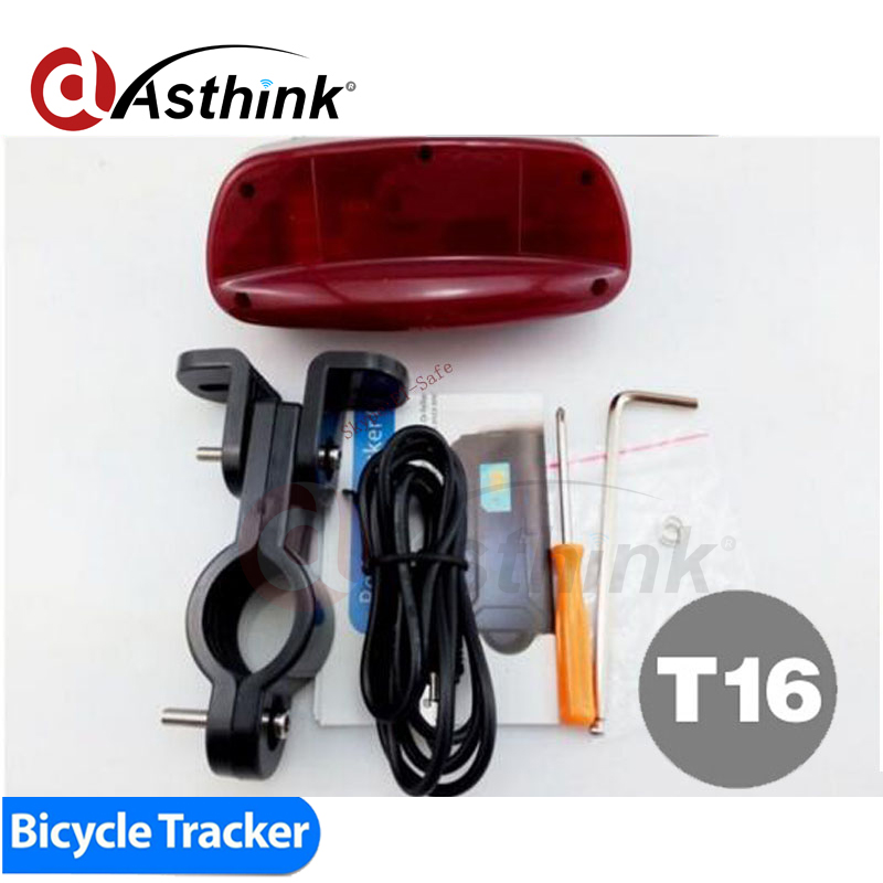 Hot Bike Tracker T16 GSM/GPRS GPS Mini Hidden device for Bicycle Quad Band Real-time Google Map Tracking Long battery standby