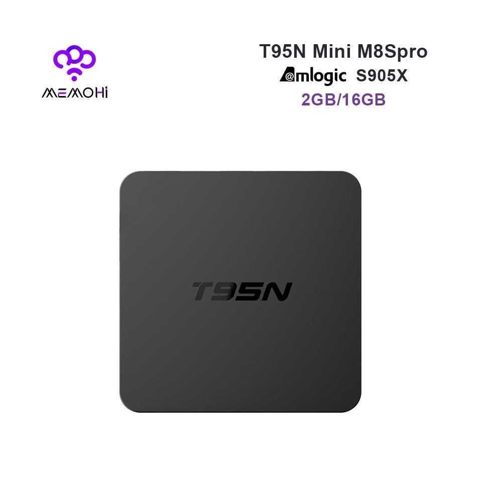 Prix pour 10 PCS MEMOBOX T95N Android 6.0 Boîte avec 2.4 GHz WiFi CPU Amlogic S905X Kodi Quad Core RAM 2 GB ROM 16 GB