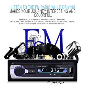 Image 3 - Camecho Bluetooth Autoradio Car Stereo Radio FM Aux Input Receiver SD USB JSD 520 12V In dash 1 din Car MP3 Multimedia Player