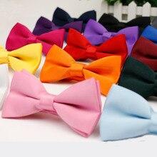 Мужской Детский галстук-бабочка, высокое качество, гибкий галстук-бабочка, гладкий галстук, мягкий матовый галстук-бабочка, декоративный узор, одноцветные Галстуки