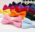 2015 dos homens do Laço Bowtie Gravata Lisa de Alta Qualidade Flexível Macio Fosco Borboleta Padrão Decorativo Cor Sólida Laços