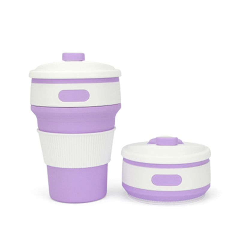 350ML Portable 4 Color Coffee Tea <font><b>Cup</b></font> <font><b>Folding</b></font> Silicone Water <font><b>Cup</b></font> <font><b>Travel</b></font> <font><b>Hiking</b></font> Picnic <font><b>Cup</b></font> <font><b>Collapsible</b></font> Stylish <font><b>Outdoor</b></font> Drinkware