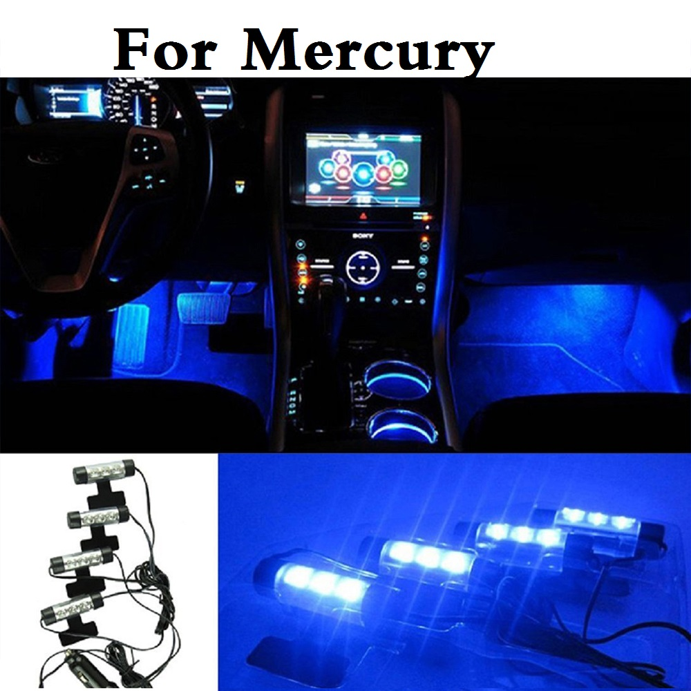 car styling Car Led Interior Atmosphere Lights Decoration Blue Lamp Styling For Mercury Grand Marquis Mariner Milan Montego