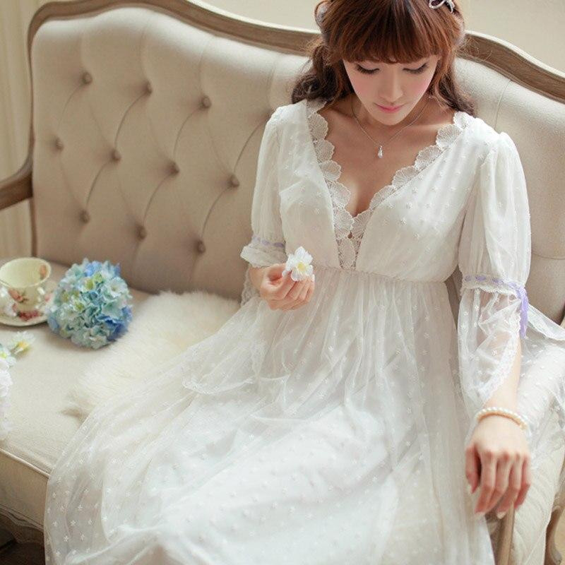 womens vintage luxury soft lace elegant noble long. Black Bedroom Furniture Sets. Home Design Ideas