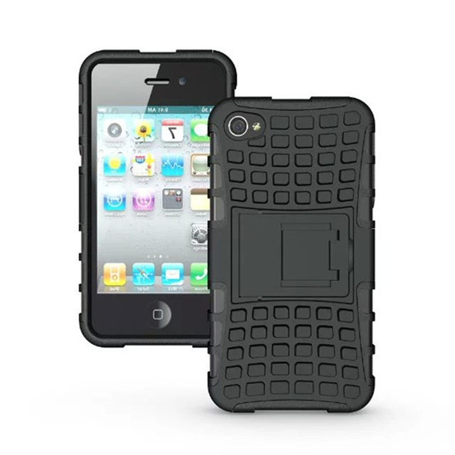 For Iphone 4s Case Heavy Duty Rugged Dual Layer Shockproof Protection Cover Le