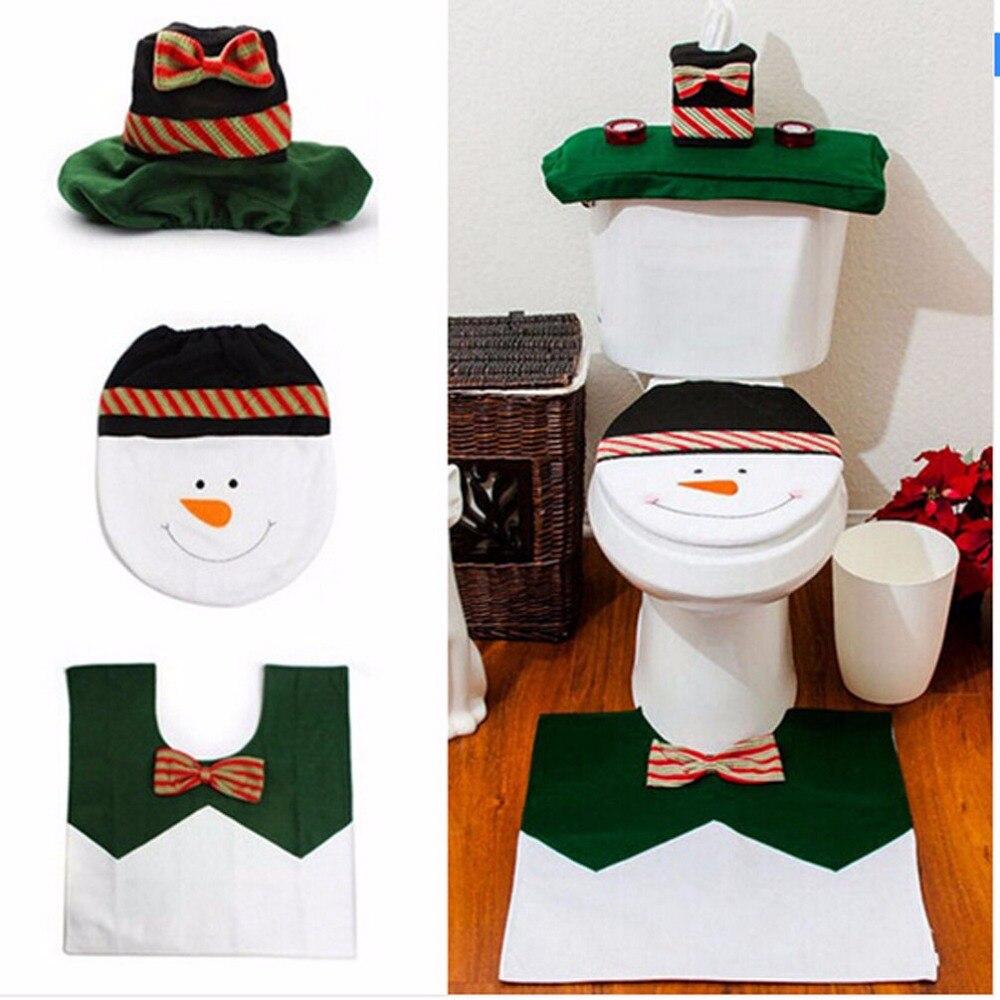2 Set Lot Snowman Toilet Seat Cover Amp Floor Rug Amp Water