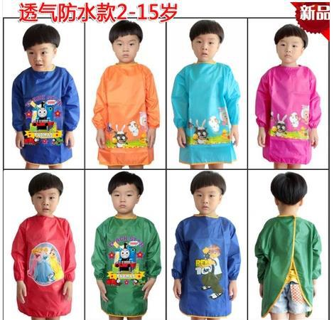 Extra large children s painting waterproof clothing Draw the clothes baby  bib overall inside out Long sleeve apron breathable a93401737
