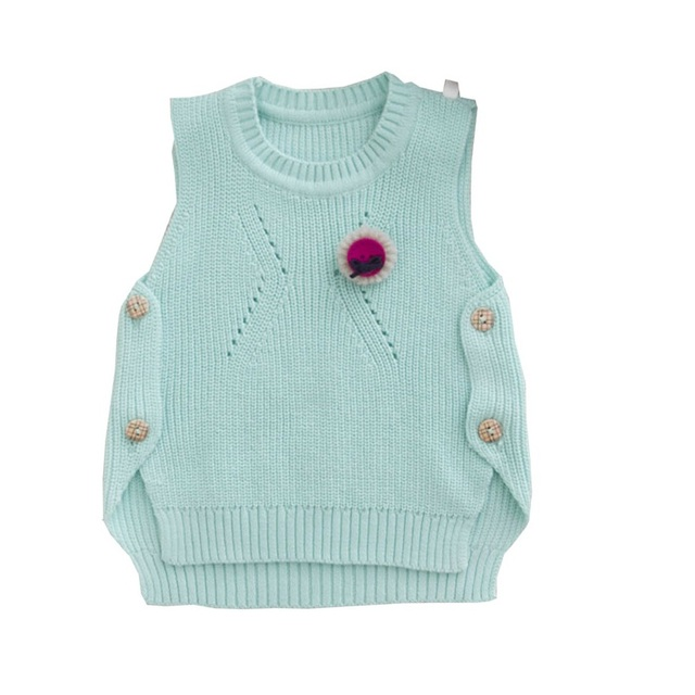 1-4year  years baby sweater vest 2017 spring new European and American style cotton knitted waistcoat sweaters for toddler girl