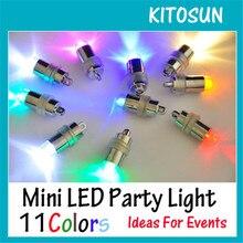 10 шт./лот микро многоцветный на батарейках светодиодный вечерние маленькие Мини светодиодный мигающий свет с батареей