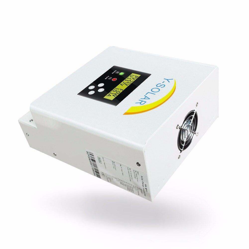 MPPT 12V 24V 36V 48V 60A bateria słoneczna kontroler ładowania dla maks 150V wejście podwójny wentylator chłodzenia kontroler słoneczny z RS485
