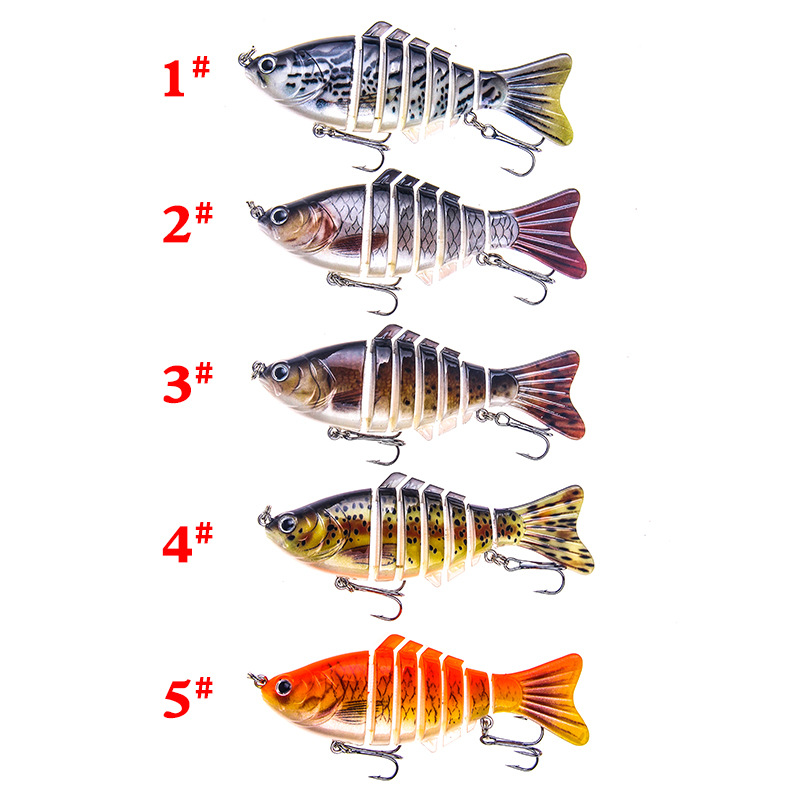 Fishing Lure 7 Segment Lifelike Trouts Swimbait Multi Jointed Artificial Bait Crankbait Hard Bait Tackle with Treble Hook in Fishing Lures from Sports Entertainment