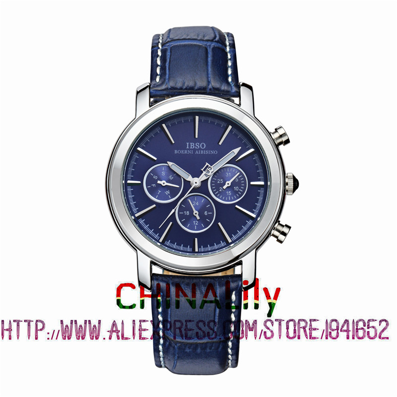 2015 Selling Brand IBSO BOERNI AIBISINO Unisex Ultra Thin Round Dial Analog Wrist Watch with Waterproof & Leather Band 6809 2015 selling brand ibso boerni aibisino unisex ultra thin round dial analog wrist watch with waterproof