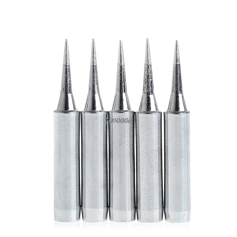 (OOTDTY)5x Lead Free Replacement Soldering Tools Solder Iron Tips Head 900m-T-I 936 937 APR27_30