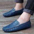 Homens Mocassins Mocassins Homme Marca Designer De Couro Genuíno 2016 Sapatos de Condução Apartamentos Sapatos Casuais Masculinos Da Moda Italiana