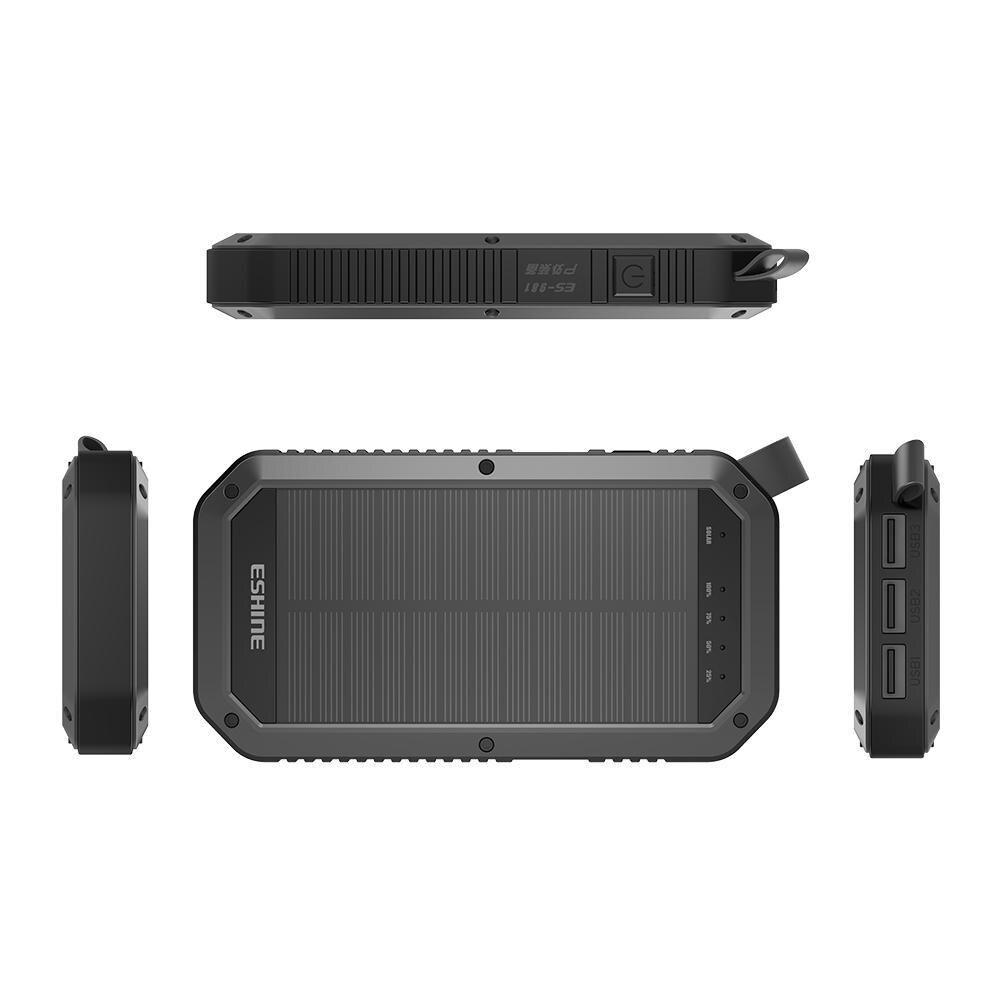 8000mAh Portable LED  Solar  Power Camping Light  Mobile Wireless Charger 3 USB  Solar Panel Mobile Power Bank Ip65