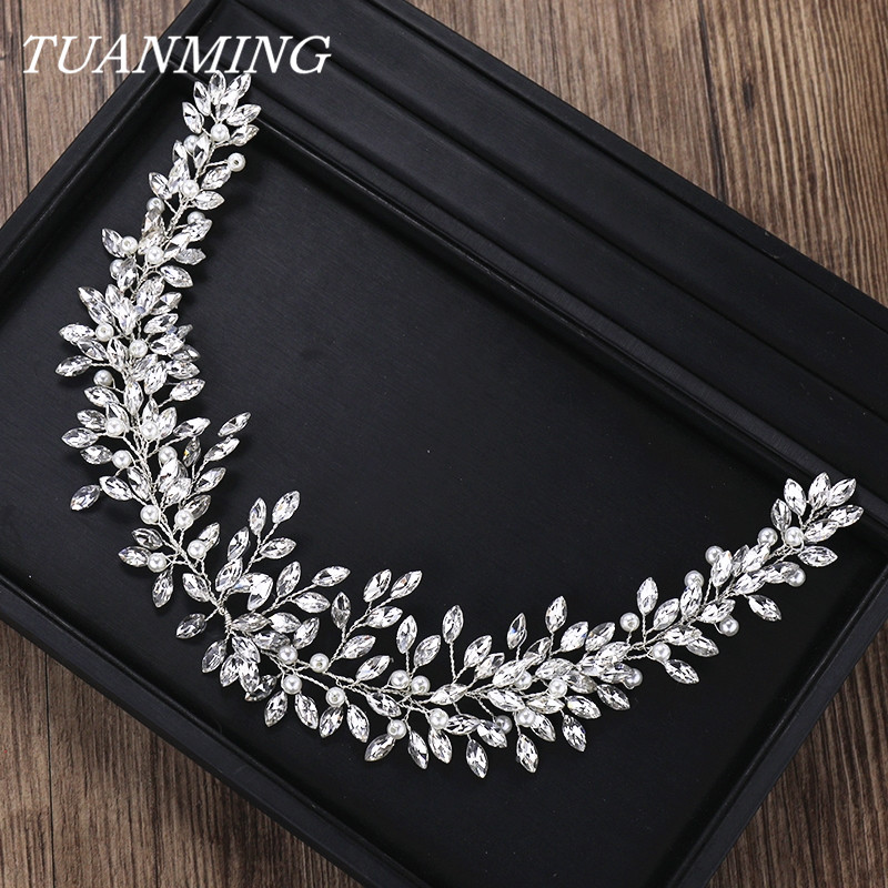 Rhinestone Crystal Headband Bride Hair Accessories Women Crystal Pearl Headband Wedding Bride Hairband Head Jewelry-in Hair Jewelry from Jewelry & Accessories on Aliexpress.com | Alibaba Group