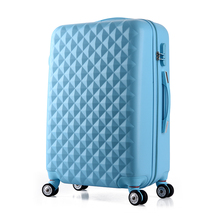Wholesale!24inches korea fashion pink abs hardside trolley travel luggage on universal wheels for girl,youth girl birthday gift