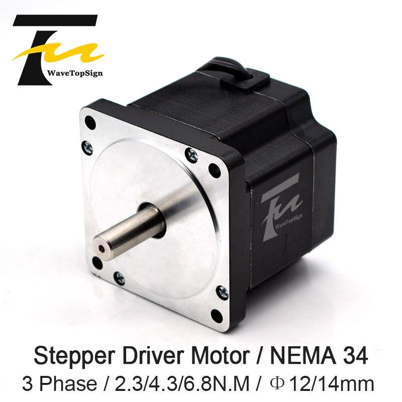 Leadshine Nema 34 Stepper Motor 863S Series Holding Torque 2.3N.m 4.3N.m 6.8N.m Use For Laser Engraving Machine CNC RouterLeadshine Nema 34 Stepper Motor 863S Series Holding Torque 2.3N.m 4.3N.m 6.8N.m Use For Laser Engraving Machine CNC Router