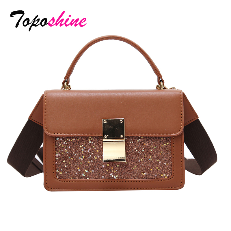 The New Korean Version of the Spring Sequined Bag Ladies Simple Casual Small Bag Fashion Wild Shoulder Messenger Bag Tide free shipping women 2017 new tide package fashion simple shoulder messenger bag spring and summer wild atmosphere korean version
