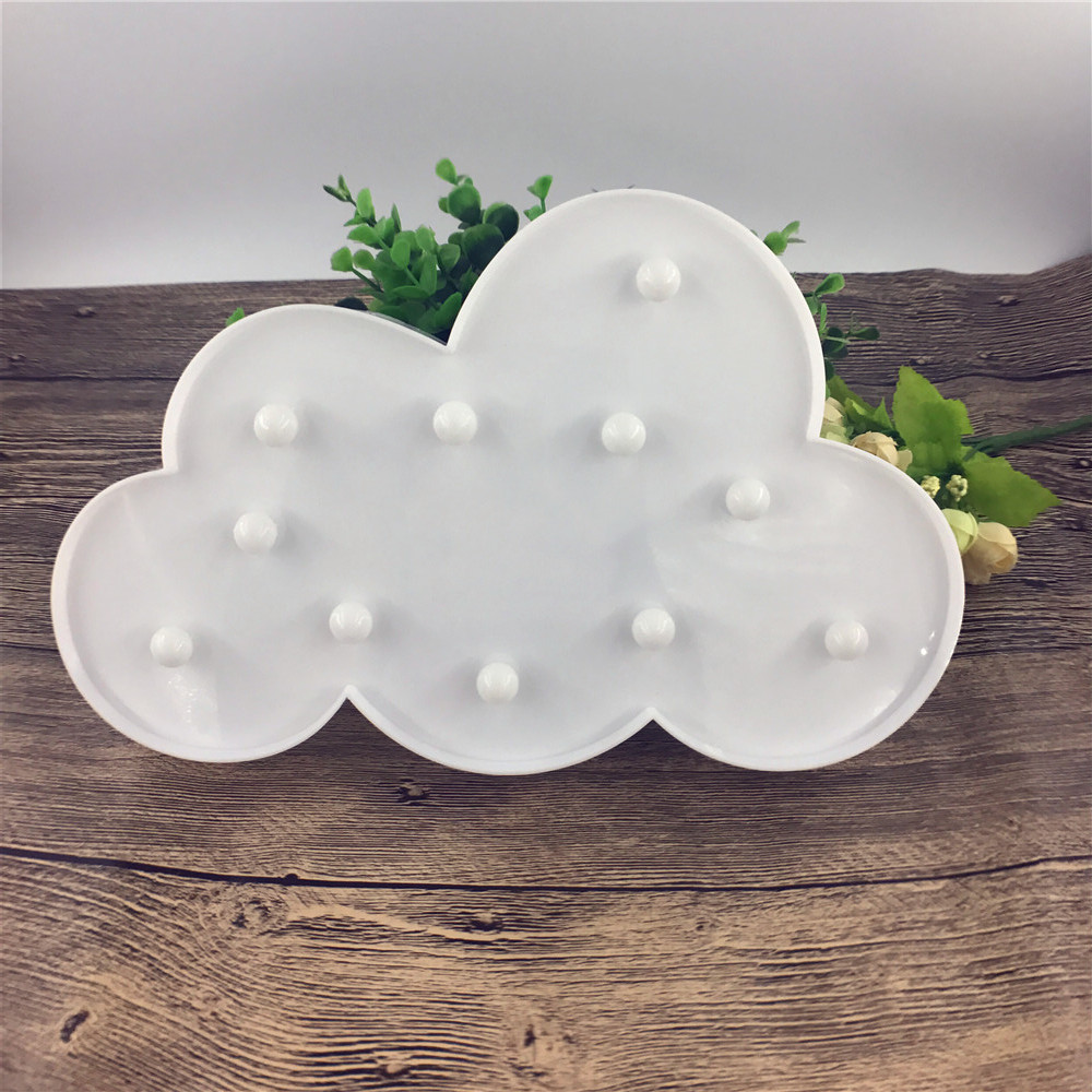 11 LED White Cloud Letter light For Christmas Decoration Kid's Gift - Night Lights - Photo 4