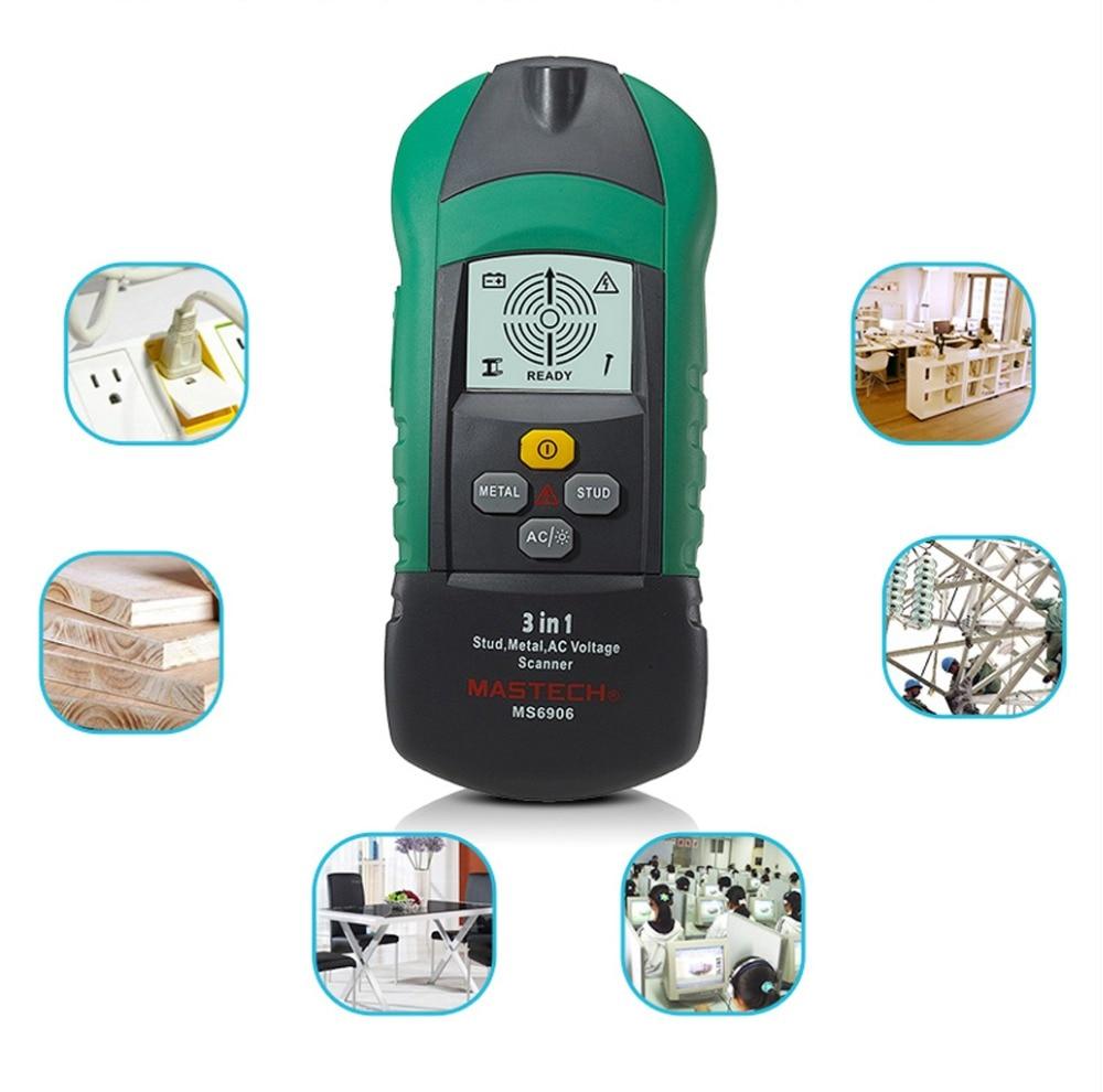 3 in 1 Multifunctional Stud Metal AC Voltage Teater Tools Scanner Detector MS6906