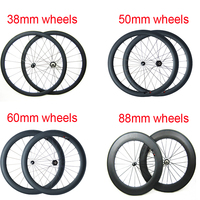 700c Road Bicycle Wheel 20 24 38 50 60 88 Mm Carbon Clincher Wheelset