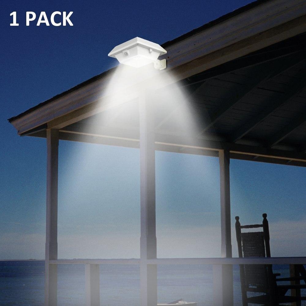 T-SUN Sarjeta Luz Solar Sensor de Movimento PIR Lâmpada IP44 12 DIODO EMISSOR de Luz Solar para Jardim Ao Ar Livre À Prova D' Água Garagem 6000K branco frio