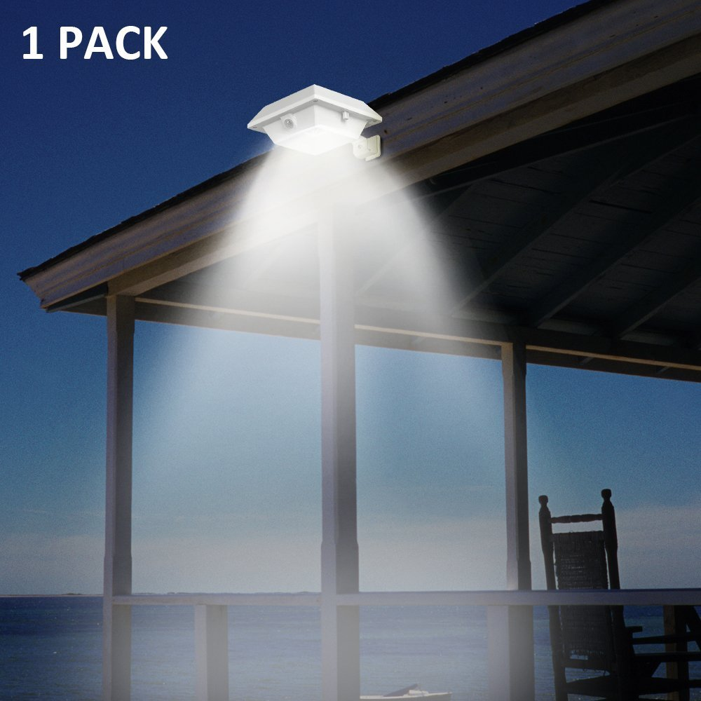 T SUN Solar Gutter Light PIR Motion Sensor Lamp Waterproof IP44 Outdoor 12 LED Solar Light