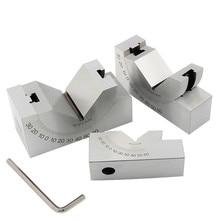 Regulowany mikro kąt Gauge precyzyjny sinus Gauge blok 0-60 stopni z kluczem do szlifierki frezarka narzędzia pomiarowe