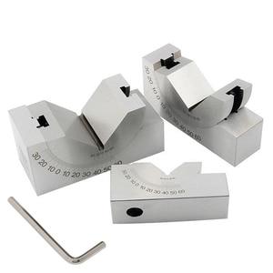 Calibrador de precisión de Micro ángulos ajustable, bloque de calibre sinusoidal de 0 a 60 grados con llave, para fresadora, herramientas de medición