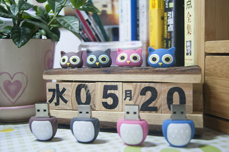 8GB 16GB 32GB lovely cute cartoon owl USB Flash Drive Memory Stick Drives/Thumb/drive/Gift creative Pendrive Stick Pen S58#21