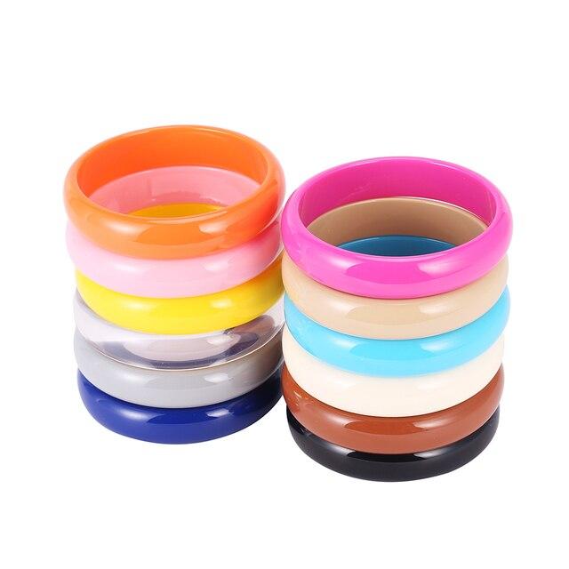 Оптовая Дешевые Простой Легкость Смолы Браслет Женщина Мода Bracelete Feminina Ювелирные Изделия 12 Цвета