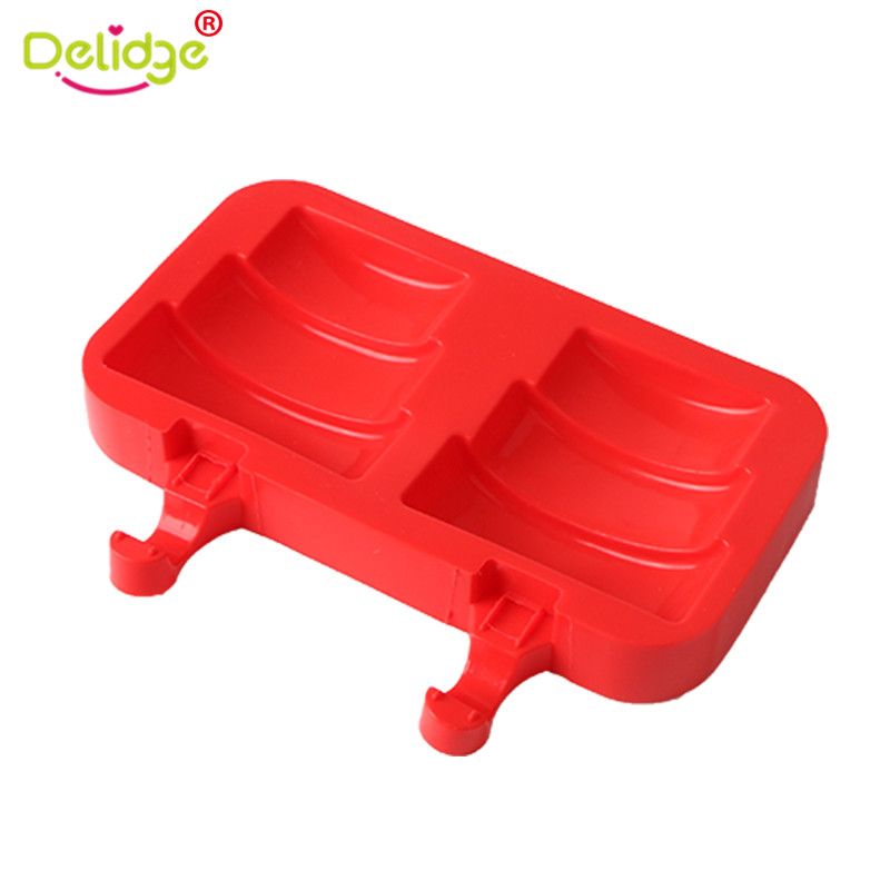 Delidge Triple Layer Ice Cube Maker Silicone Chocolate Mold Children Summer Favor Pop Popsicle Mould