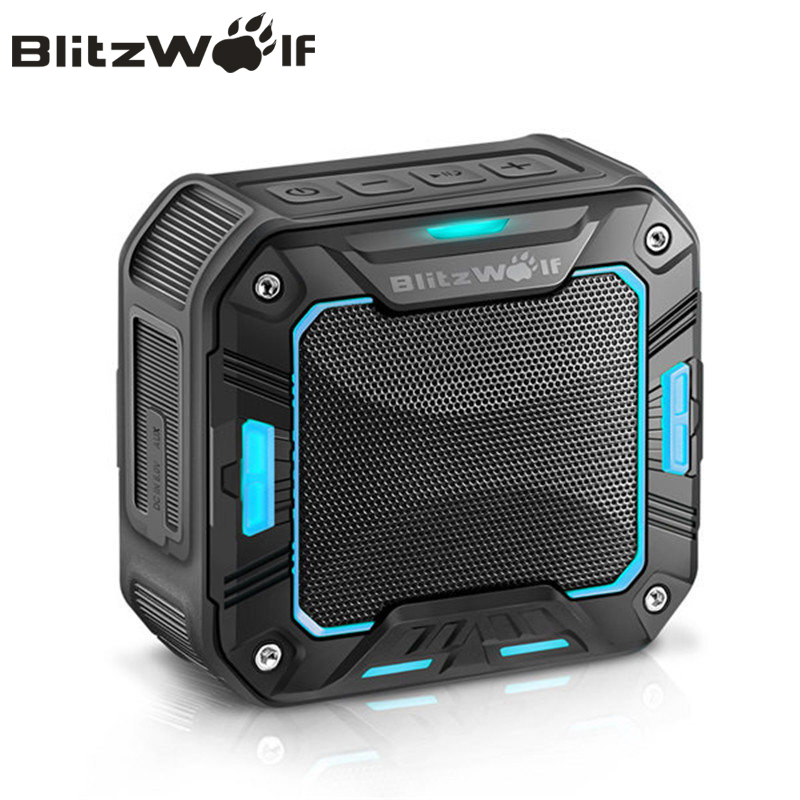 Best Bluetooth Portable Speaker Under 2000: BlitzWolf Wireless Bluetooth Speaker 2000mAh Waterproof Mini Portable Outdoor Hand Free Speaker